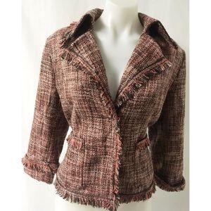 Jackets & Blazers - Pink & Black Blazer Size 12